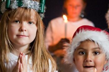 Reunión de Navidad familiar de Santa Lucía